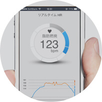 Ensure that the real-time meter shows your heart rate